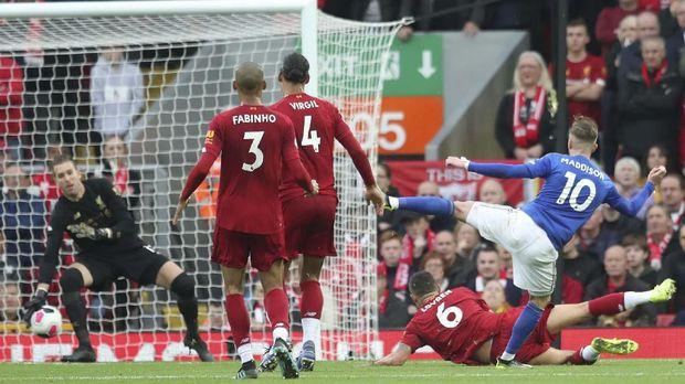 Liverpool menang 2-1 atas Leicester City di pertemuan pertama.
