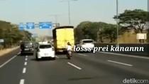 Viral Emak-emak Motoran Terobos Tol Gunungsari Surabaya