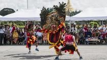 Keren! Kesenian Reog Ponorogo Pukau Warga di Myanmar