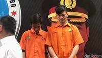Daffa DAcademy bersama rekannya saat ditemui di Polda Metro Jaya pada Senin (7/10).