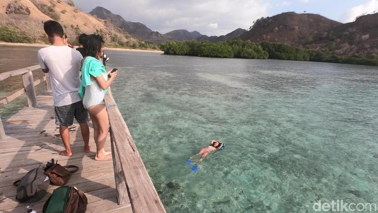 Spot snorkeling di Pantai Manjarite (Ahmad Masaul Khoiri/detikcom)