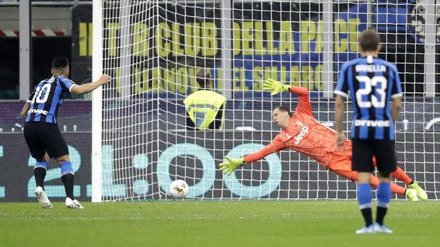 Lautaro Martinez sempat membuat kedudukan menjadi imbang 1-1.