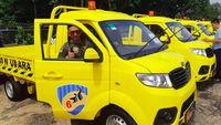 Ngejreng! Pikap Esemka Warna Kuning Jadi Mobil Dinas TNI AU