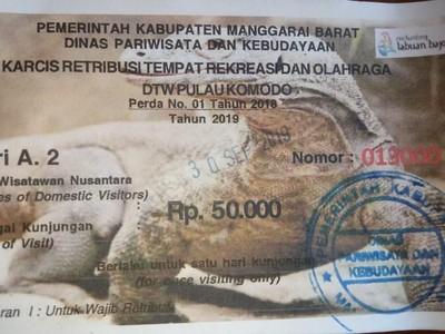 Rincian Tiket Masuk ke Pulau Komodo Saat Ini