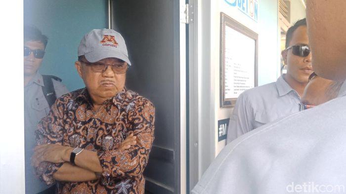 Foto: Wapres JK saat cek pembangunan hunian tetap di Palu (Qadri-detik)