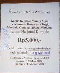 Ini Rincian Tiket Masuk ke Pulau Komodo