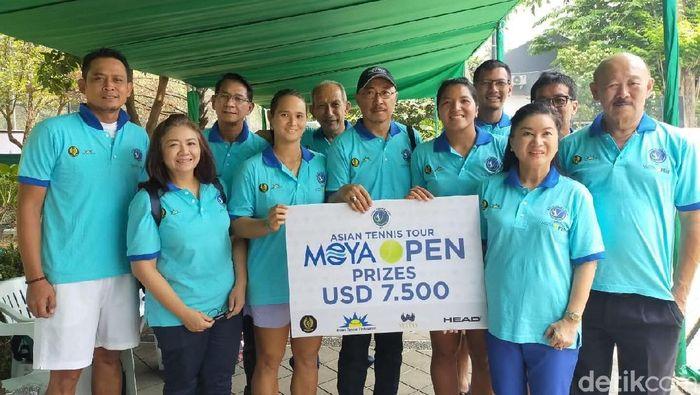 Atlet pelatnas tenis melakoni uji coba terakhir sebelum bertolak ke SEA Games 2019. (Foto: Mercy Raya/detikcom)
