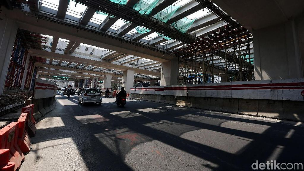 Penampakan Terkini Proyek LRT Cawang-Dukuh Atas