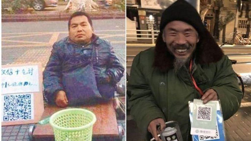 Pengemis di China Meminta-minta Pakai QR Code