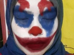 Cewek Bekasi Nonton Joker dengan Dandan Mirip Badut, Foto Lucunya Viral