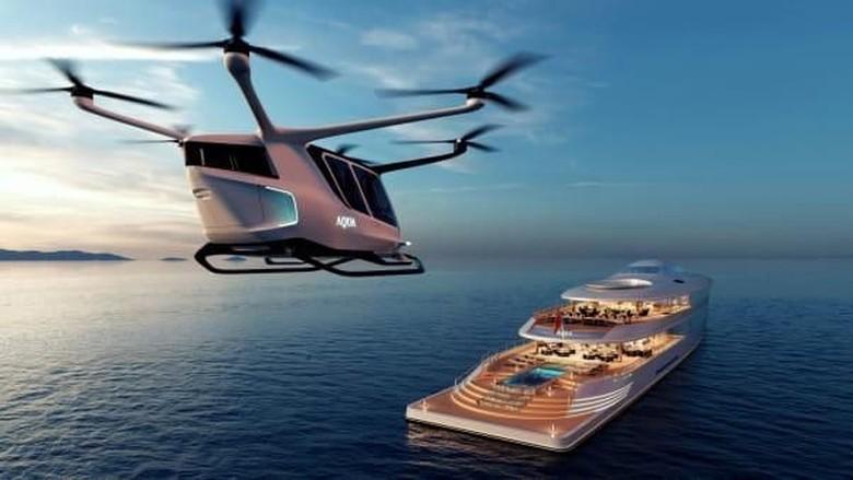 Konsep superyacht Aqua (Sinot Yacht Architecture & Design 2019/CNN)