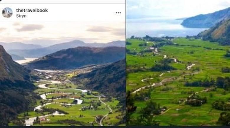 Kolase lembah di Norwegia dan di Sumatera Utara (istimewa)