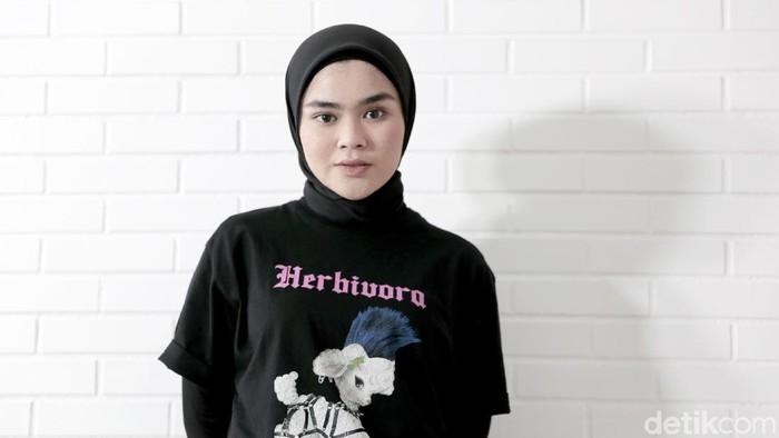Sivia Azizah saat berkunjung ke kantor detikcom.