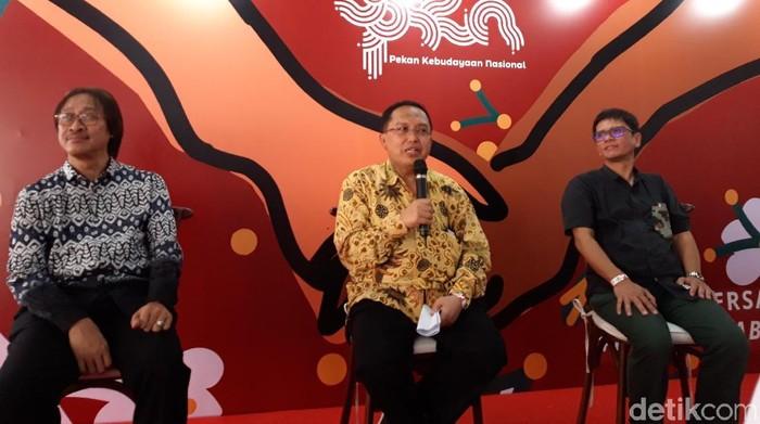 Foto: Jumpa pers Kemendikbud soal Penyerahan Anugerah Kebudayaan dan Penghargaan Maestro Seni Tradisi (Rahel Narda Chaterine/detikcom)