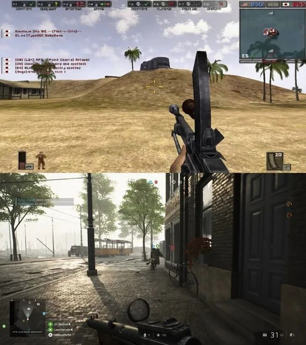 Battlefield 1942 (2002) vs Battlefield V (2018). Foto: pocket-lint