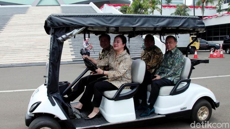 Saat Pimpinan DPR Tinjau Ruangan di Gedung Kura-kura