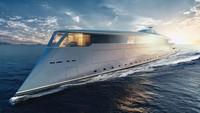 Namanya Aqua dan dibuat dalam kerja sama dengan Lateral Naval Architects. Ukurannya 112 meter dan akan didukung sepenuhnya oleh hidrogen cair dan teknologi sel bahan bakar (Sinot Yacht Architecture & Design 2019/CNN)
