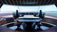 Superyacht Aqua akan memiliki fasilitas yang juga canggih. Mampu berlayar pada kecepatan tertinggi 17 knot, jangkauannya 3.750 mil laut (Sinot Yacht Architecture & Design 2019/CNN)