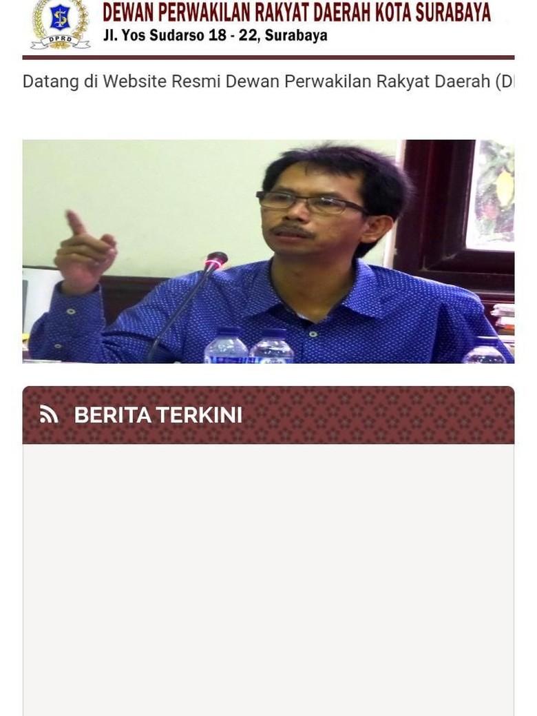 Website DPRD Surabaya Lama Tak Aktif, Dewan Ingin Hidupkan Kembali
