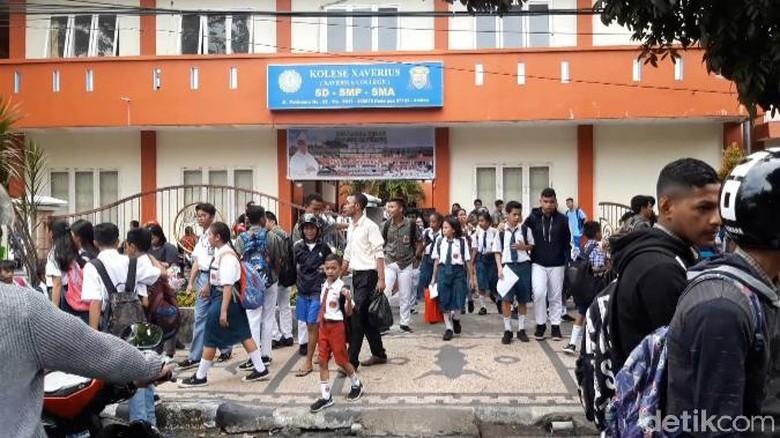 Gempa M 3,3 di Ambon, Siswa Dipulangkan Lebih Awal