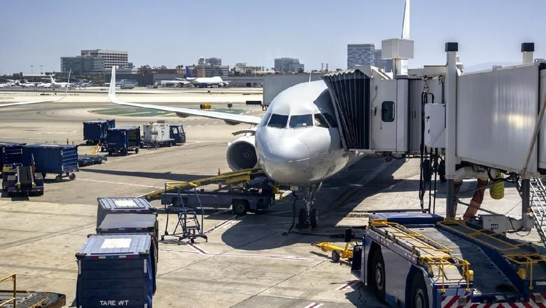 Ilustrasi jetway di pintu pesawat. (Dok. wsfurlan/iStock)