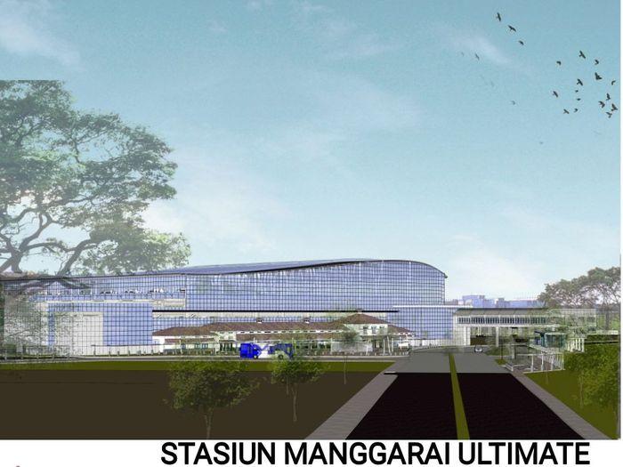 Dari desain yang dilihat detikcom, Stasiun Manggarai ini bakal terlihat megah. Pool/Kementerian Perhubungan.