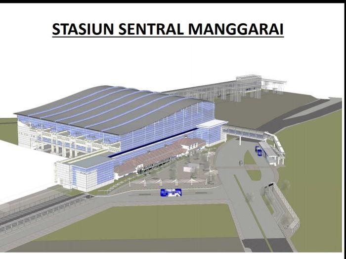 Foto: Desain Stasiun Manggarai (Istimewa/Kementerian Perhubungan)