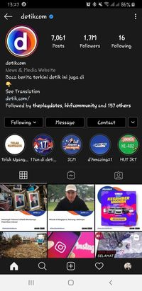 Instagram detikcom dark mode.