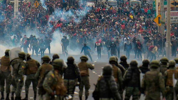 Demo Ekuador Foto: Rodrigo Buendia/Agence France-Presse