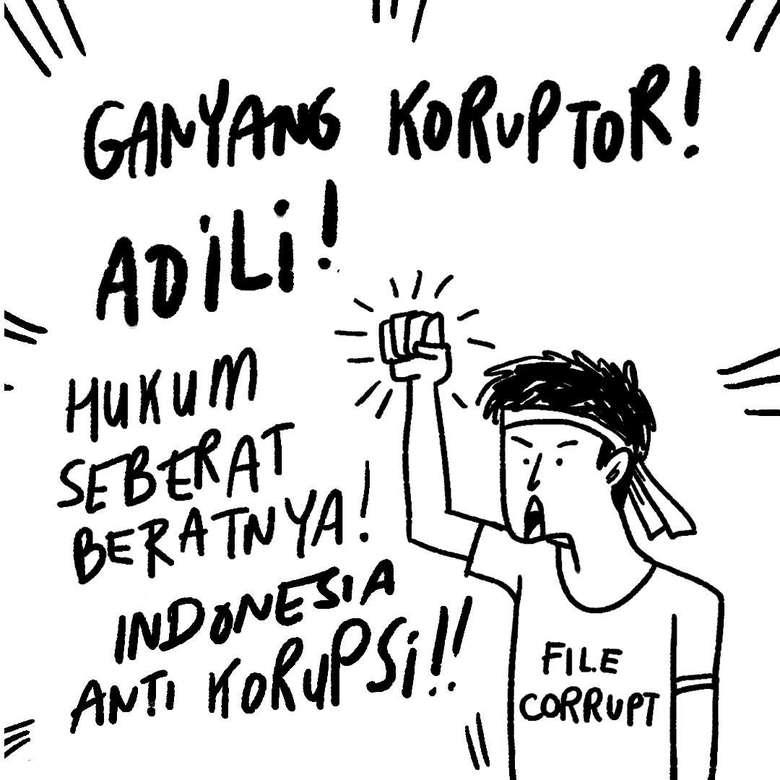 Sentilan Antikorupsi ala Komikrukii