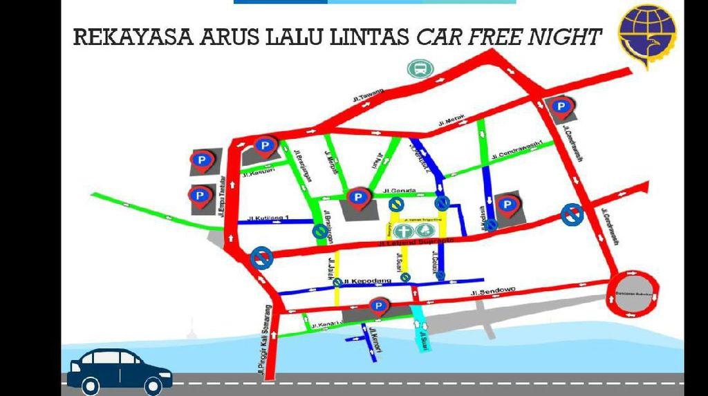 Jumat-Sabtu, Pemkot Semarang Uji Coba Car Free Night di Kota Lama