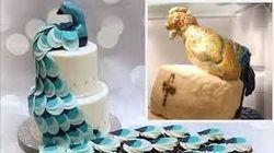 Pesan Cake Bertema Merak, Pengantin Ini Malah Dapat Cake dengan Burung Menyeramkan