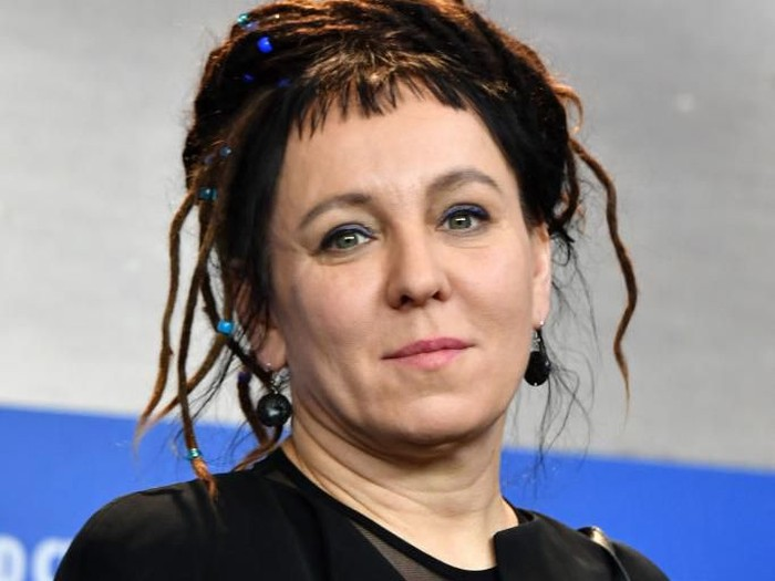 BERLIN, GERMANY - FEBRUARY 12:  Author Olga Tokarczuk attends the Spoor (Pokot) press conference during the 67th Berlinale International Film Festival Berlin at Grand Hyatt Hotel on February 12, 2017 in Berlin, Germany.  (Photo by Pascal Le Segretain/Getty Images)