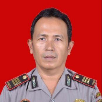 Kapolsek Menes Kompol Dariyanto yang ikut terluka diserang Abu Rara.