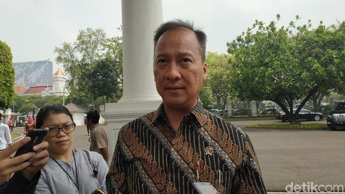 Foto: Menteri Perindustrian Agus Gumiwang Kartasasmita (Andhika Prasetia/detikcom)