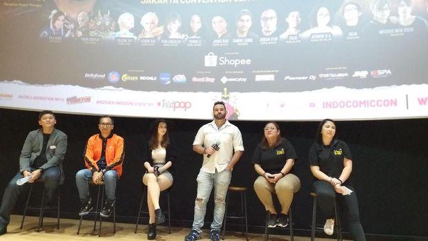 Jumpa pers Indonesia Comic Con 2019.