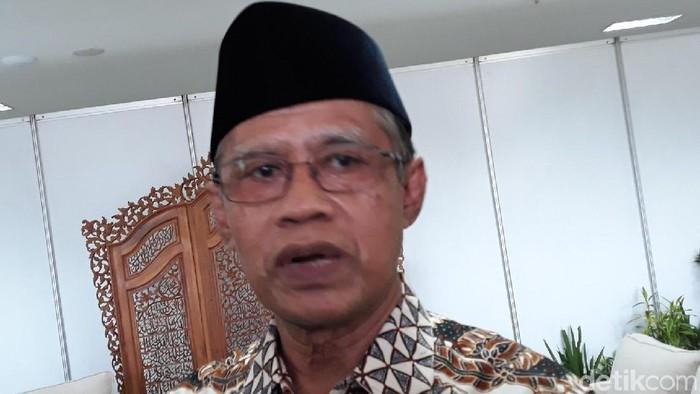 Ketua Umum Pimpinan Pusat (PP) Muhammadiyah, Haedar Nashir di di Universitas Aisyiyah (Unisa) Yogyakarta, (10/10/2019).