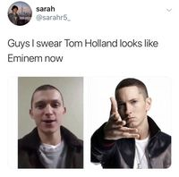 Tom Holland mirip Eminem. Dok. Twitter