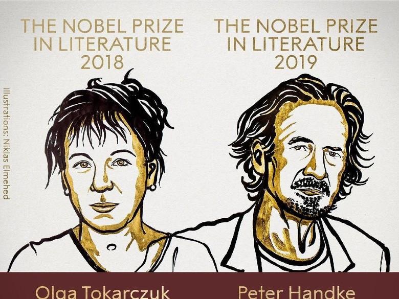 Foto: Peraih Nobel Sastra 2018 dan 2019 (dok. Nobel Prize)