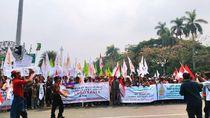 Ada Demo Massa Petani, Lalin di Patung Kuda ke Arah Istana Ditutup