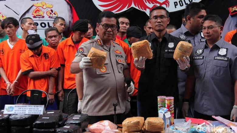 410 Pelaku Narkoba Ditangkap Polisi Selama Operasi Nila, 5 di Antaranya WNA