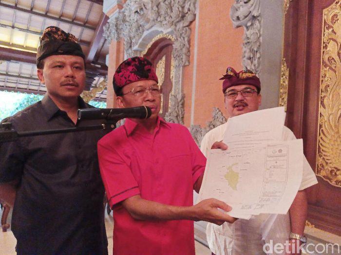 Gubernur Bali Bicara Reklamasi Teluk Benoa Batal/Foto: Aditya Mardiastuti/detikcom