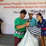 Ada BRILink, Siswa di Bali Bisa Menabung Pakai Sampah Plastik