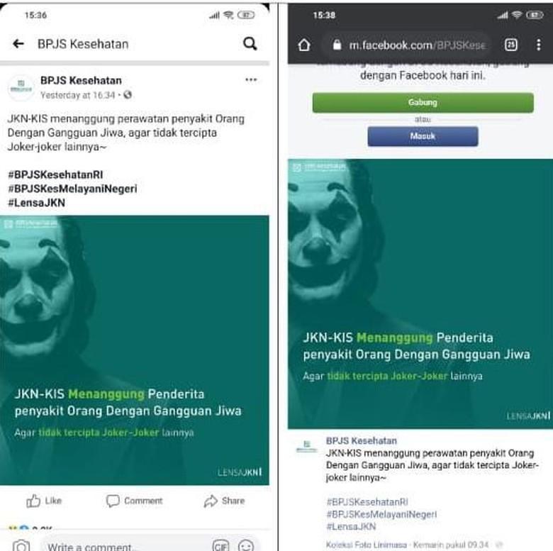 YLBHI dan Pemerhati ODGJ Somasi Dirut BPJS Kesehatan terkait Postingan Joker