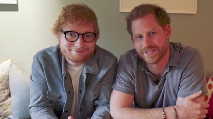 Pangeran Harry dan Ed Sheeran. Foto: Instagram