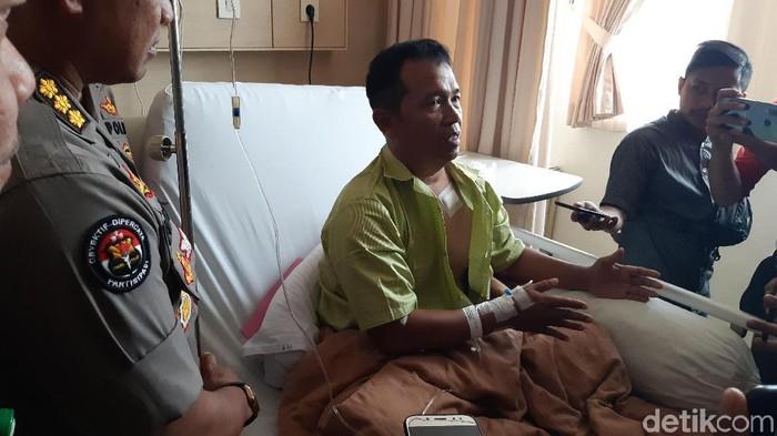 Kapolsek Menes Kompol Dariyanto jadi salah satu korban penusukan. (Bahtiar/detikcom)