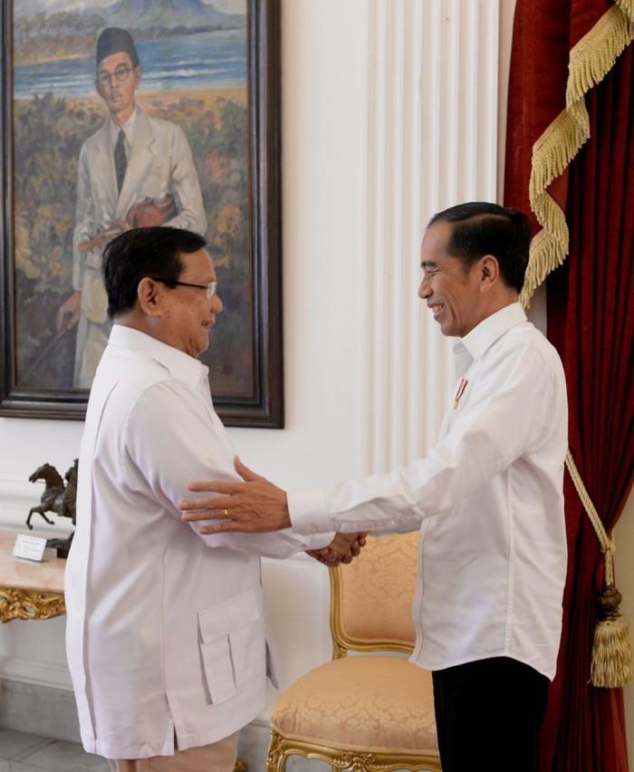 Foto: Pertemuan Jokowi dan Prabowo di Istana (Biro Pers Setpres)