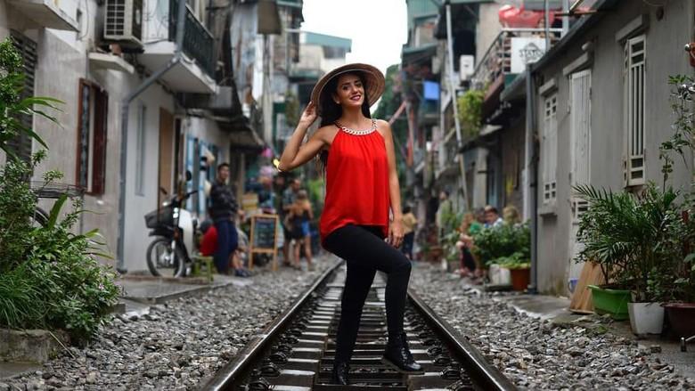 Train street di Old Quarter, Hanoi (CNN/Getty Images)