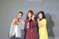 Penampilan cantik Park Shin Hye saat berada di Jakarta
