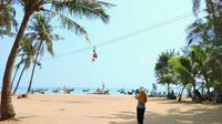 Outbound di Pantai Kelapa.